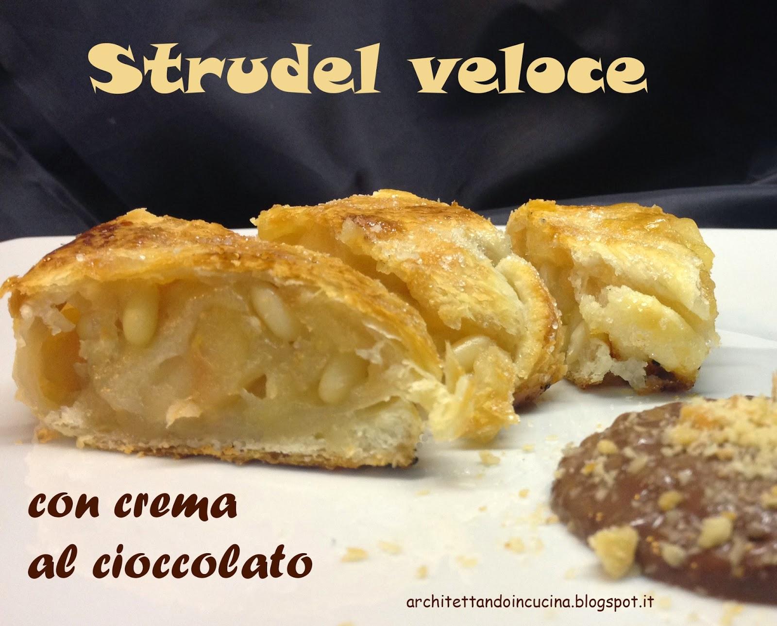strudel veloce con crema al cioccolato