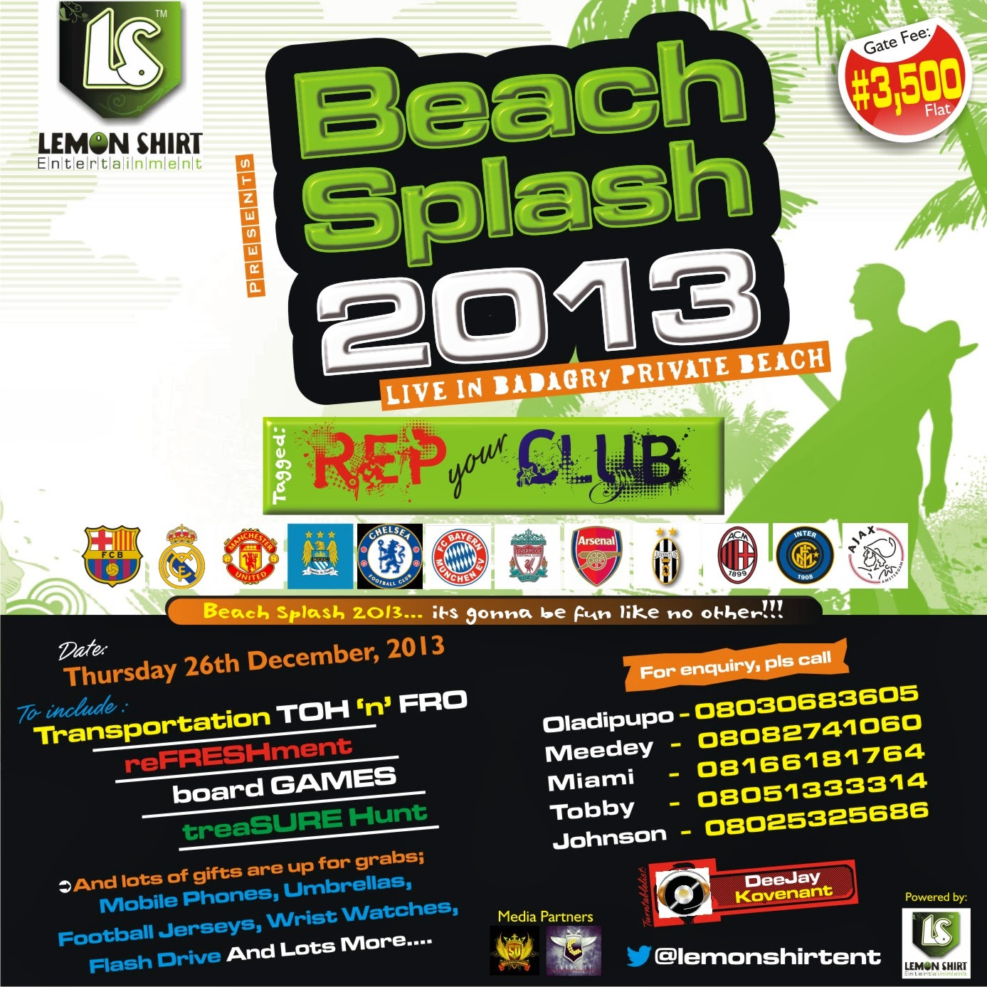BEACH SPLASH 2013 LIVE IN BADAGRY PRIVATE BEACH