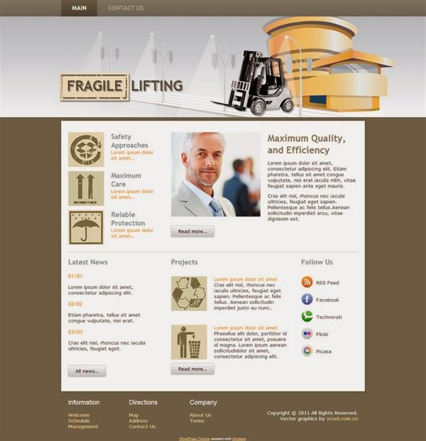 Fragile Lifting - Free Wordpress Theme