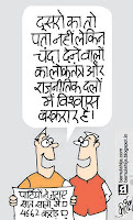congress cartoon, bjp cartoon, indian political cartoon, election 2014 cartoons, election cartoon