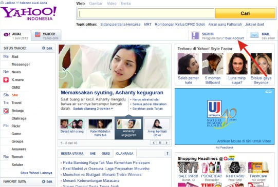 Buat Akun Email Yahoo Cara Daftar Yahoo Indonesia