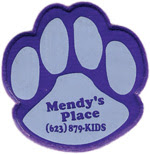 Free Mendys Place Paw Print Reflector
