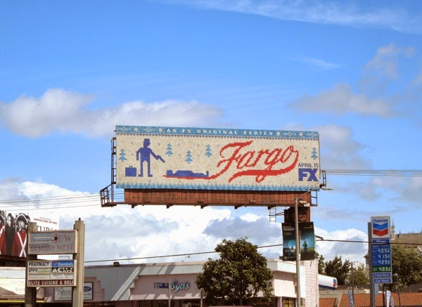 Fargo series launch billboard