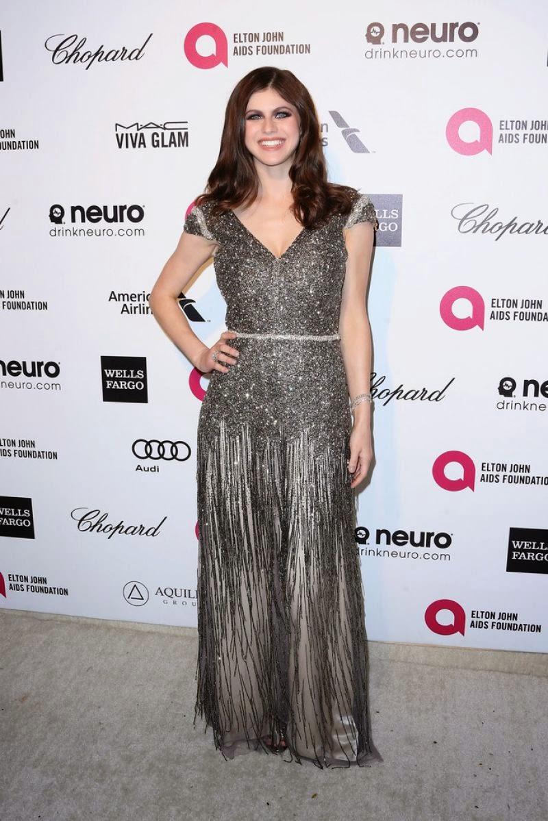 Alexandra Daddario – 2015 Elton John AIDS Foundation's Oscar Viewing Party in Hollywood