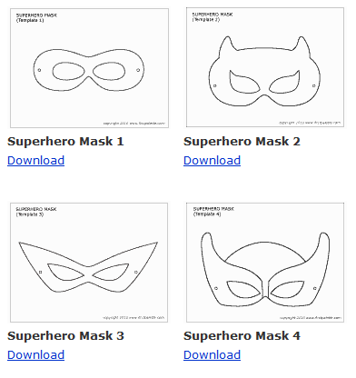 photo relating to Free Printable Superhero Mask referred to as Where by in the direction of Track down No cost Superhero Printables
