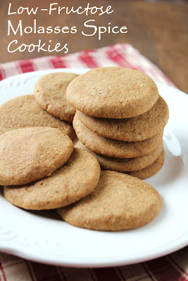 low-fructose molasses spice cookies