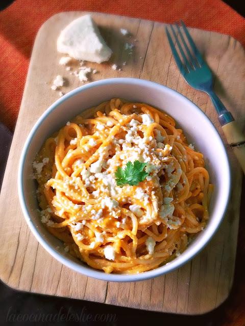 Mexican Spaghetti - lacocinadeleslie.com