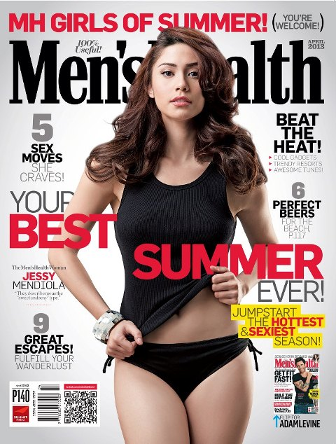 Jessy Mendiola Covers Men's Health April 2013 (Girls of Summer Special)