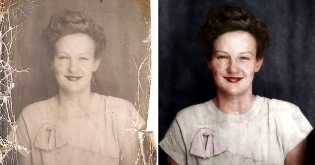 L'arte di restaurare foto antiche con Photoshop - Time Lapse