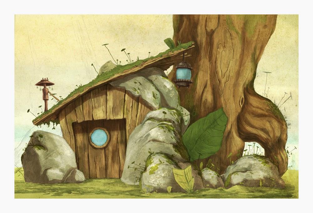 Gaetan Noir - Illustrations - Cabane sous l'arbre