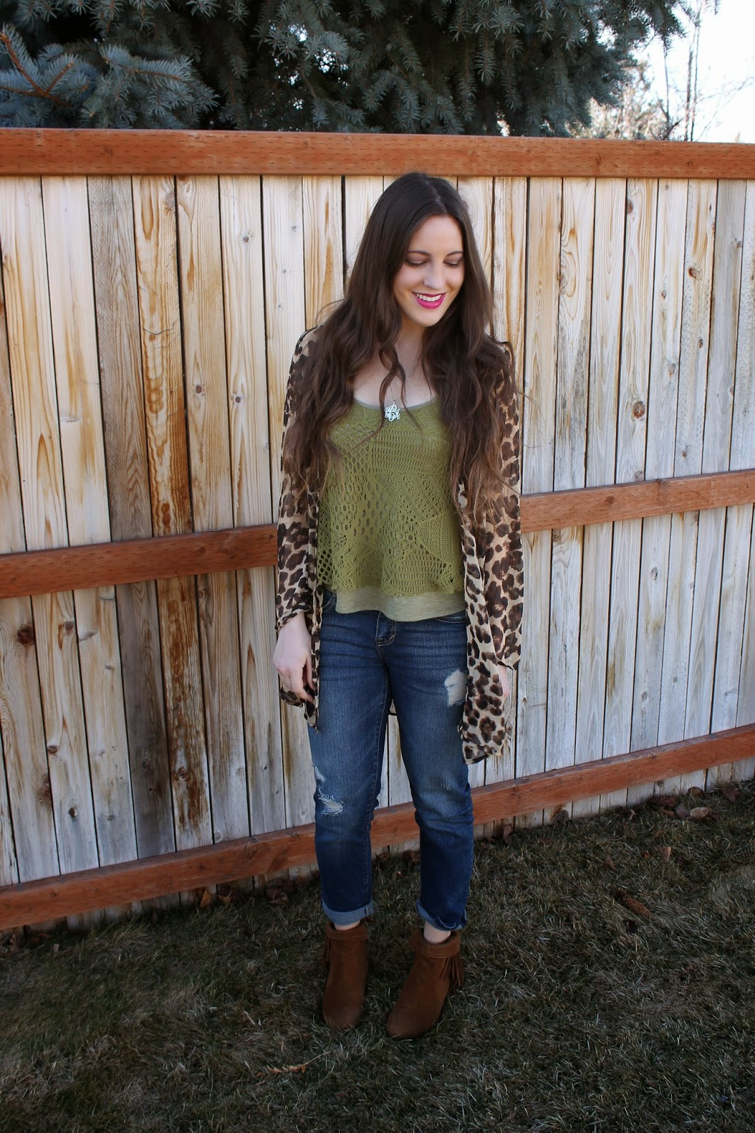leopard kimono and friday fashion diaries