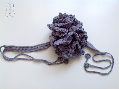 flores con cinta crochet hecho a mano Blume handgemancht häkeln