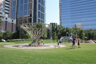Discovery Green park in Houston