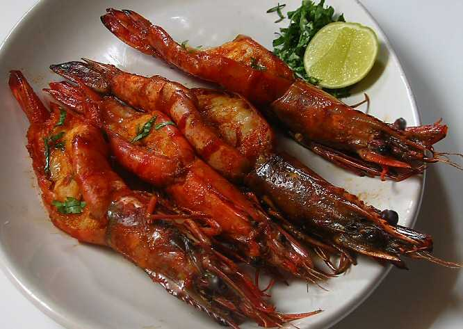 Grilled Tiger Prawns Recipe - A tasty continental recipe ...