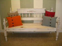 antique headboard bench...SOLD