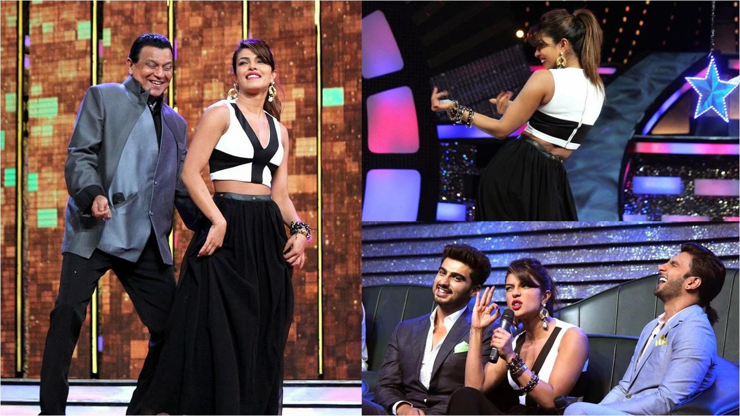 Mithun Chakraborty, Arjun Kapoor, Priyanka Chopra and Ranveer Singh at Dance India Dance