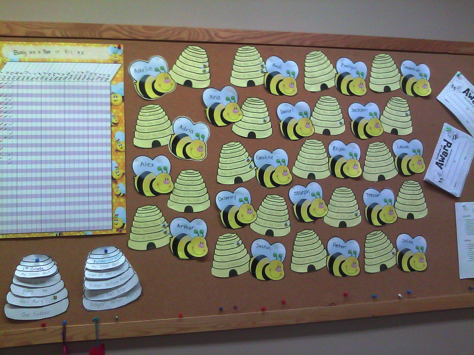 Bumble Bee Bulletin Board Prayer Tracking