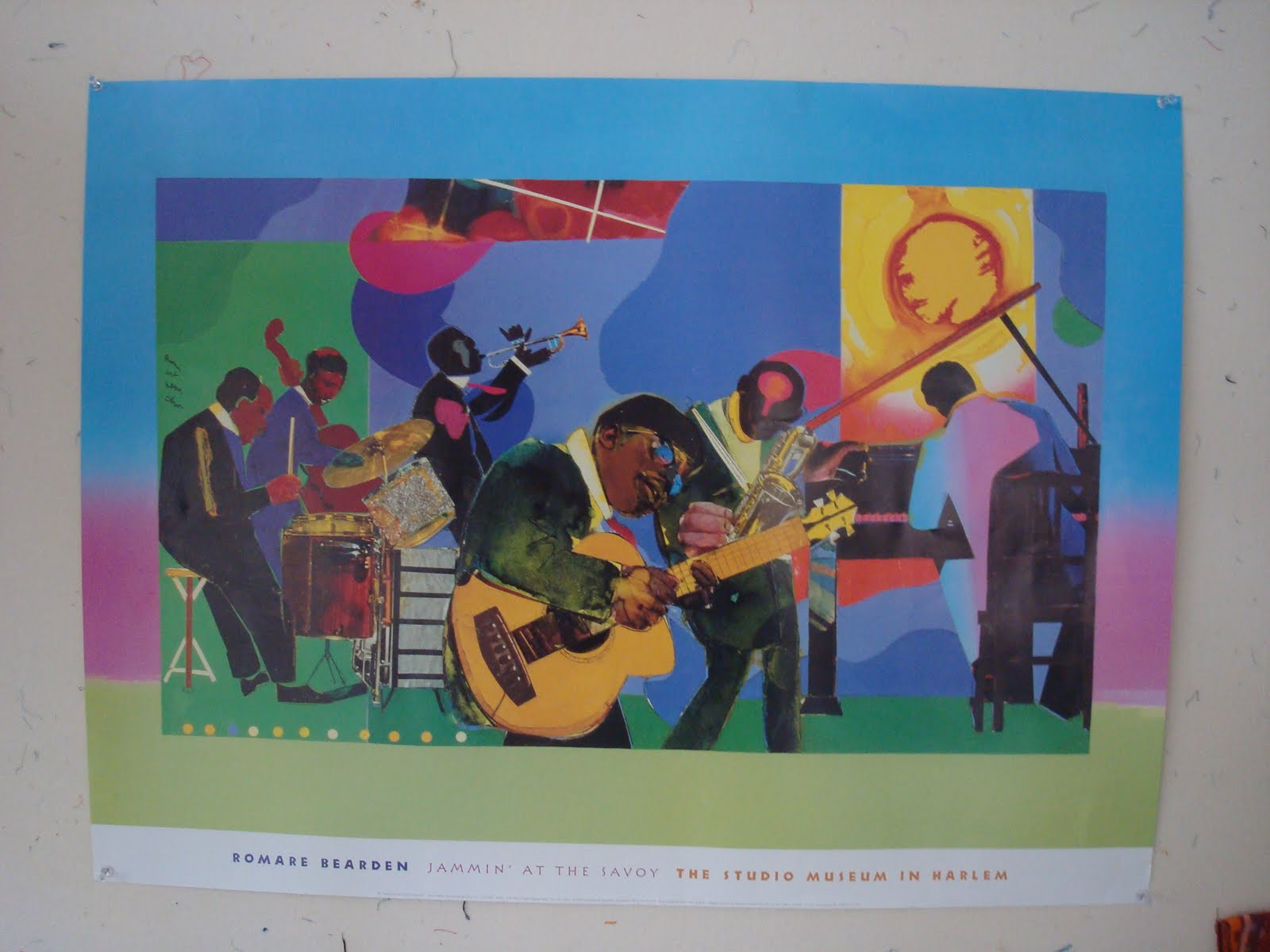 a review of rompre beardens painting jammin at the savoy Profile/part ii, the thirties: artist with painting and model, 1981 by romare bearden: this profile/part ii, the thirties: artist with painting and model, 1981 fine art print and related.