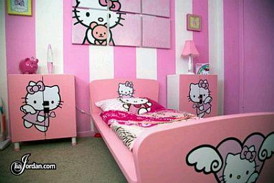 Girls bedroom decoration with hello kitty - Dormitorio hello kitty ...