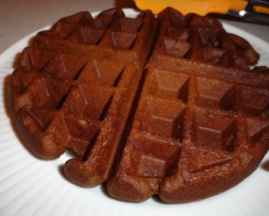 theArtisticFarmer: Gingerbread Waffles with Hot Chocolate Sauce