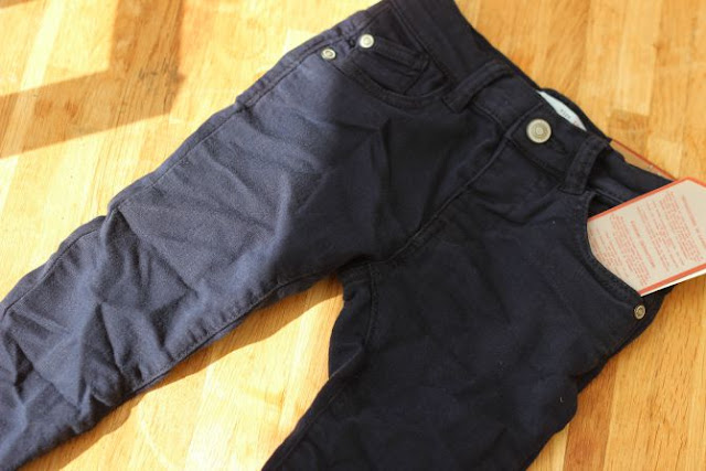 Zara baby boy skinny jeans in navy blue