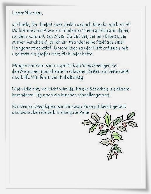 Brief Für Nikolaus : Hunde einfach socke lieber guter nikolaus