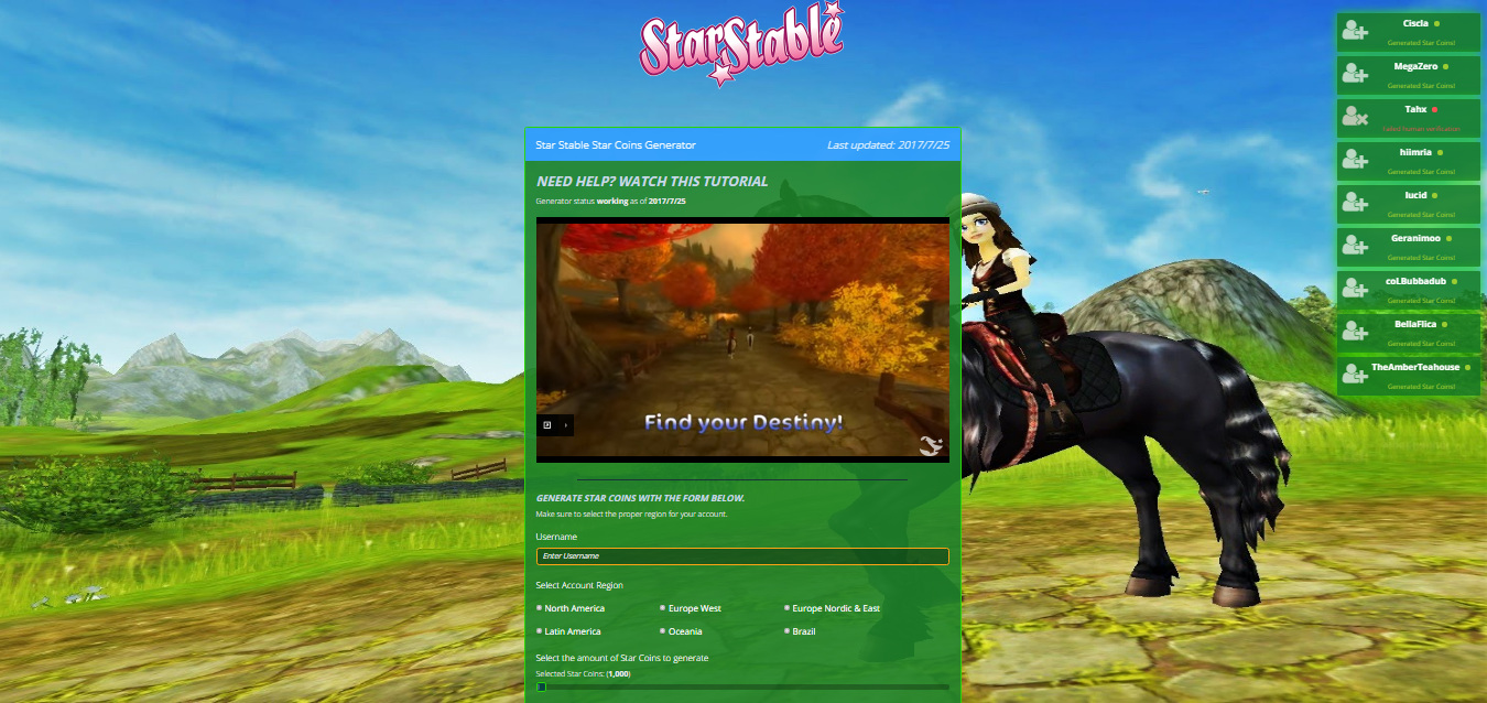 Star Stable Hack How To Hack Star Stable Hack Online