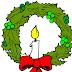 Velas navideñas para colorear