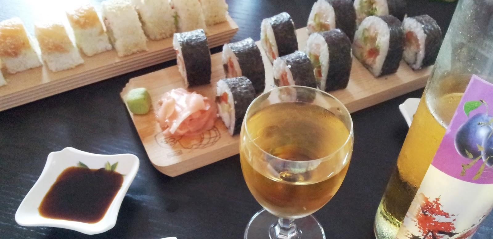 sushi ryż na wierzchu