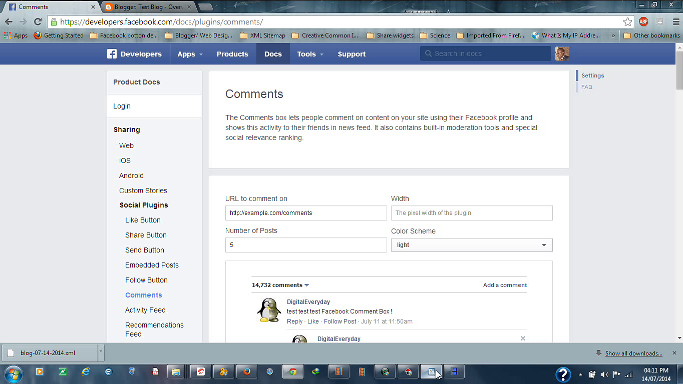How To Create Facebook Comments Box on Blogger.