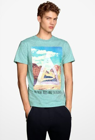 camiseta hombre H&M verano