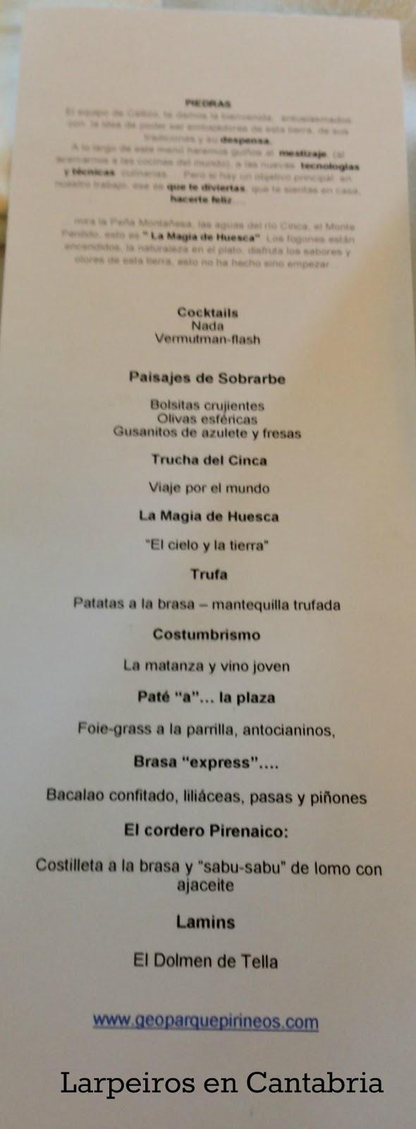 Restaurante callizo larpeiros en cantabria - Menu degustacion casa juan ...