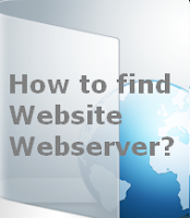How to find website webserver?