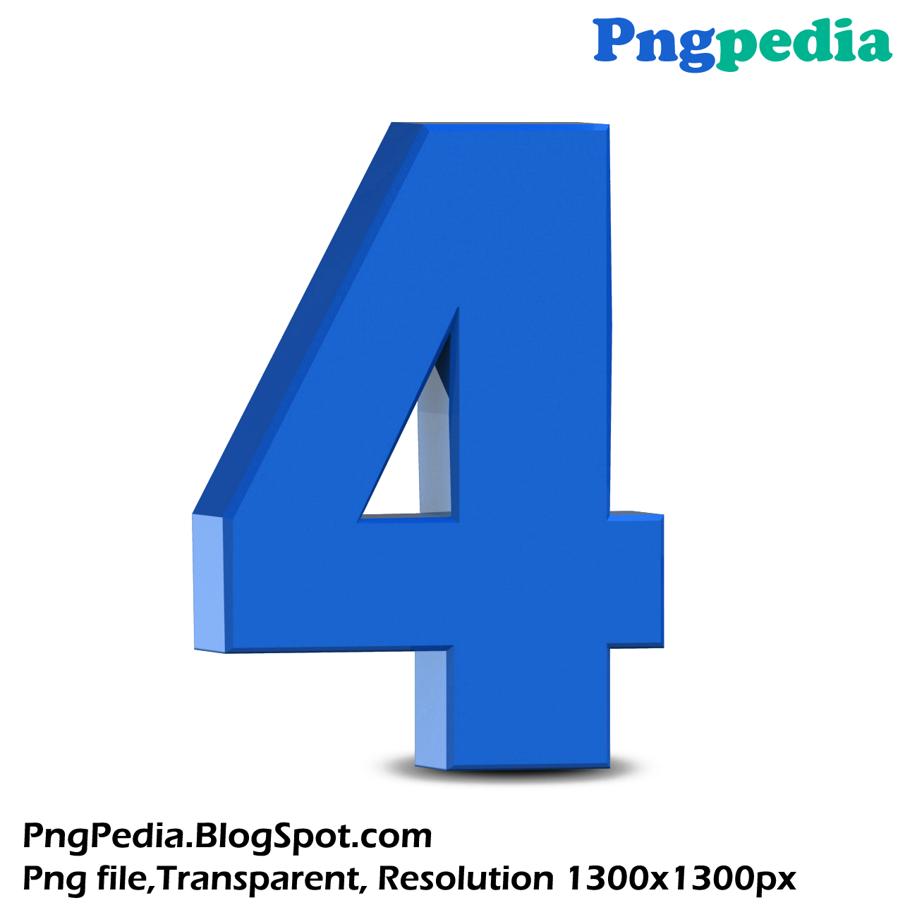 Blue 3d Numbers Set 1300 X 1300 Free Download Png
