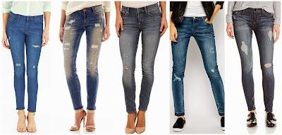 Old Navy Mid Rise Rockstar Skinny Jeans $30.00 (regular $34.94)  Mng by Mango Frayed Hem Skinny Jeans $47.99 (regular $60.00)  Lucky Brand Brooke Skinny $54.99 (regular $119.00)  Black NYC Distressed Skinny Jeans with Raw Hem $61.00 (regular $120.00)  Hudson Nico Distressed Midrise Skinny Jean $91.87 (regular $198.00)