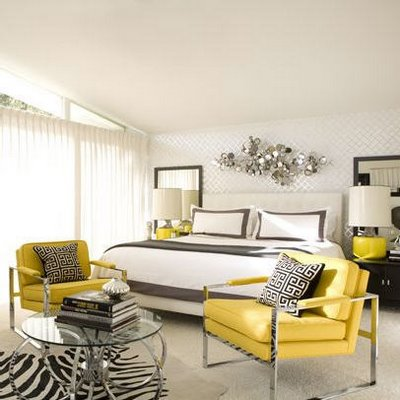 Liv Luv Design Color Palette Gray and Yellow bedrooms