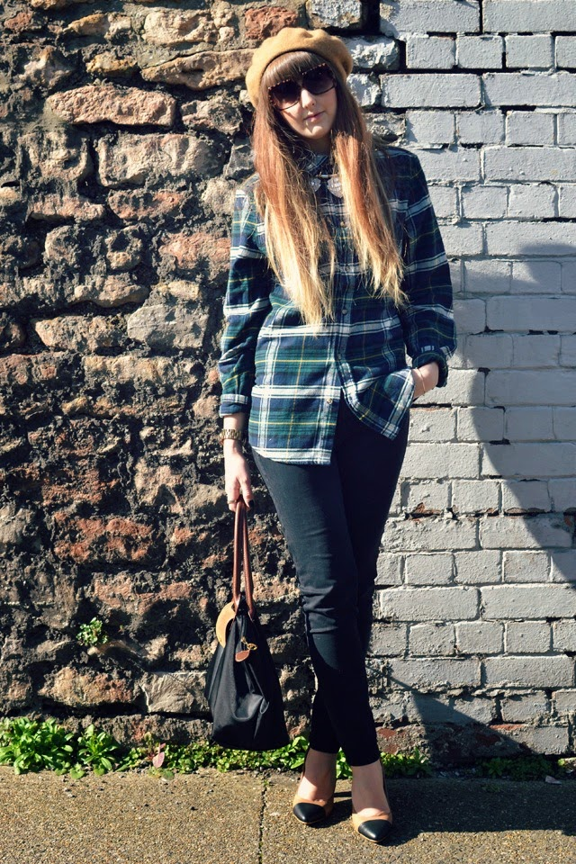 asos sunglasses h&m plaid shirt gap jeans yull shoes