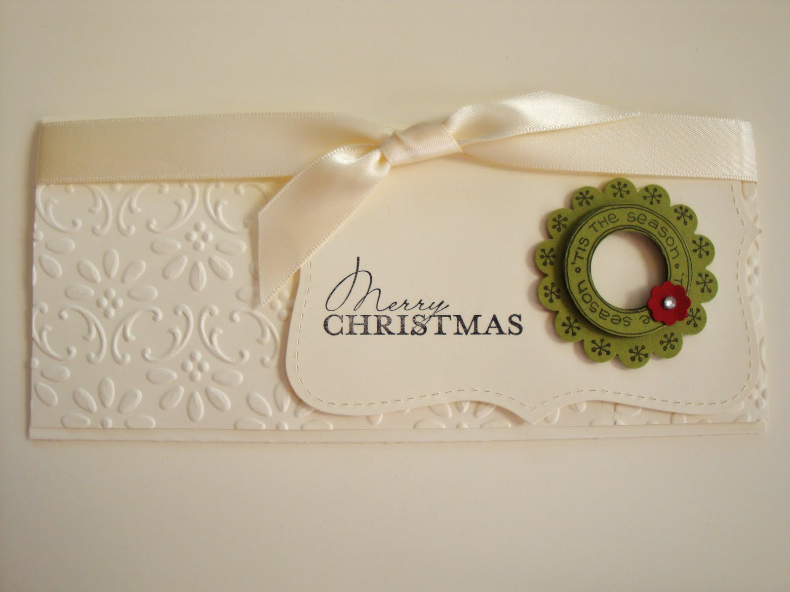 Gorgeous gift card/money holder | Cards from SU Christmas | Pinterest