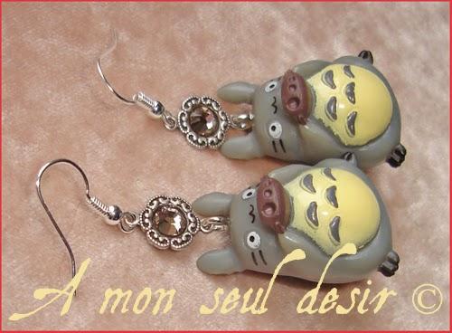 Boucles d'Oreilles Mon Voisin Totoro bijou Hayao Miyazaki Studio Ghibli