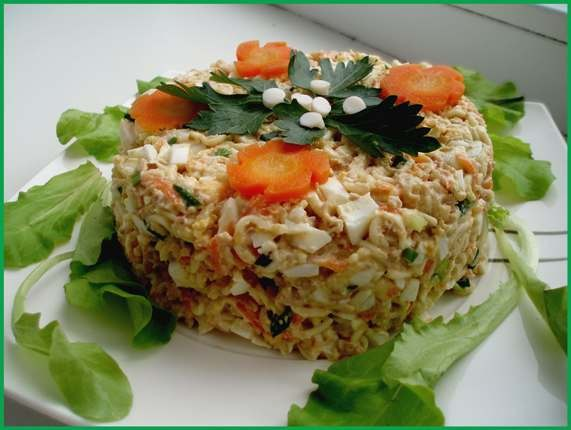 простые салаты из печени трески рецепты