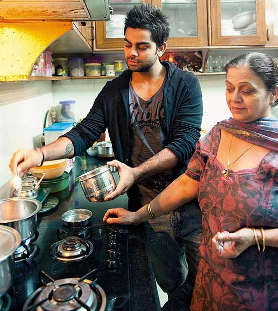 Virat Kohli with Mother Saroj Kohli  Mom   Indian Cricketer Virat    Virat Kohli With His Audi R8