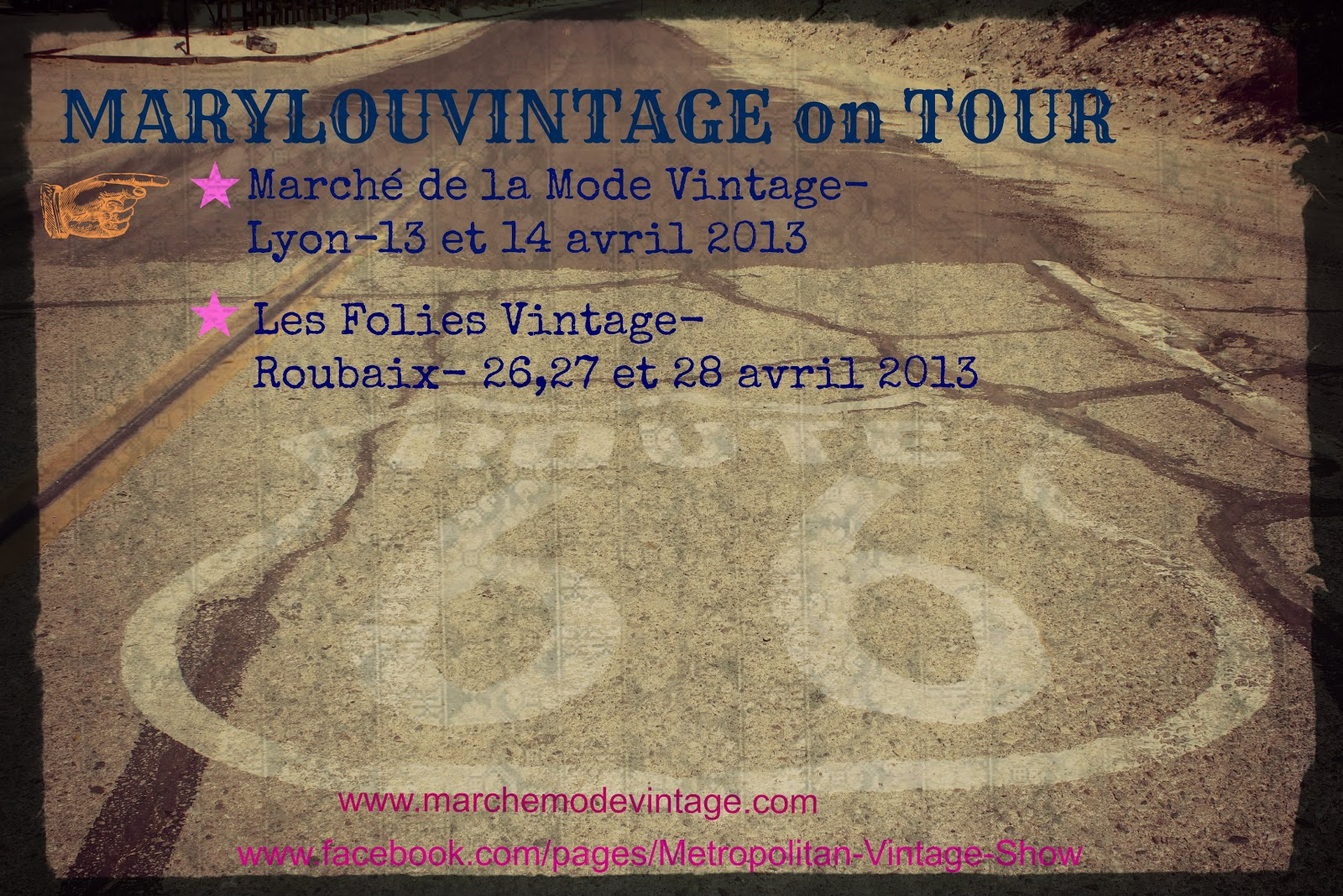 Marylou vintage v tements vintage marylouvintage on tour - Salon de la mode vintage lyon ...