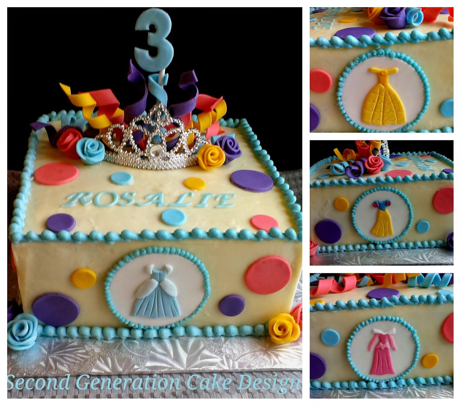 Second Generation Cake Design Princess Dress Birthday Cake