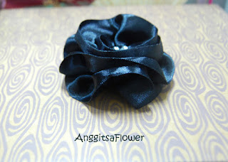 Bros+Bunga Satin (Ribbon Flower Brooch)