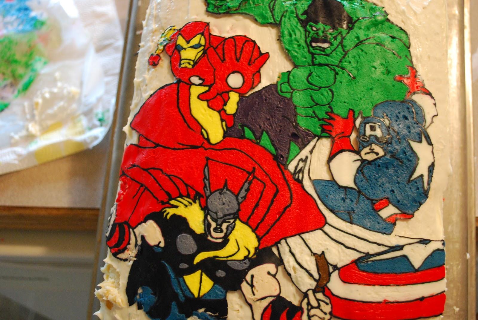 Sunshine and a Summer Breeze Avengers Birthday Cake