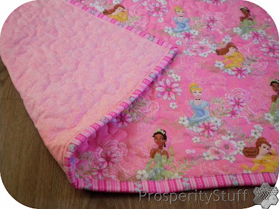 ProsperityStuff Princess Quilt backed in Pink