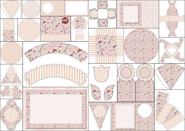 Free Printable Kit for Romantic Paris Party.