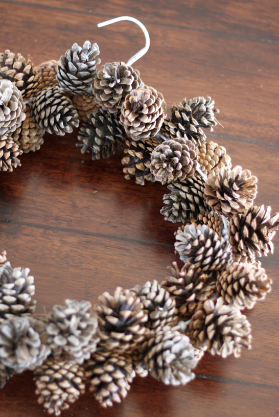 Do it yourself divas diy pinecone wreath practically free Making wreaths