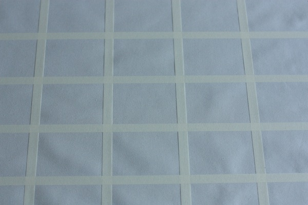 Ro Guaraz · bolsa origami · 10 · cuadrícula con cinta