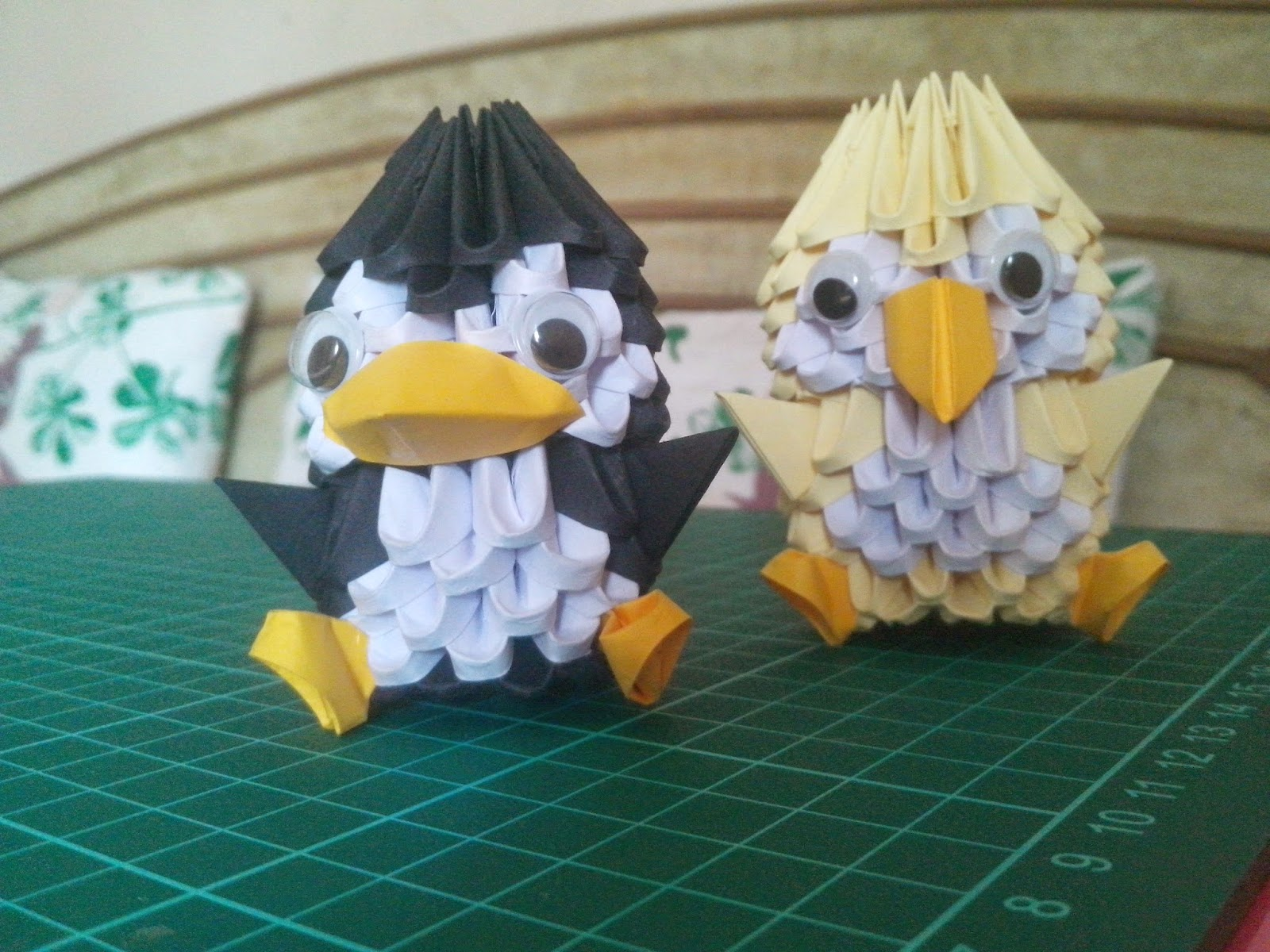 Kaurscrafts: 3d Origami penguin, chicken and dragon boat - photo#16